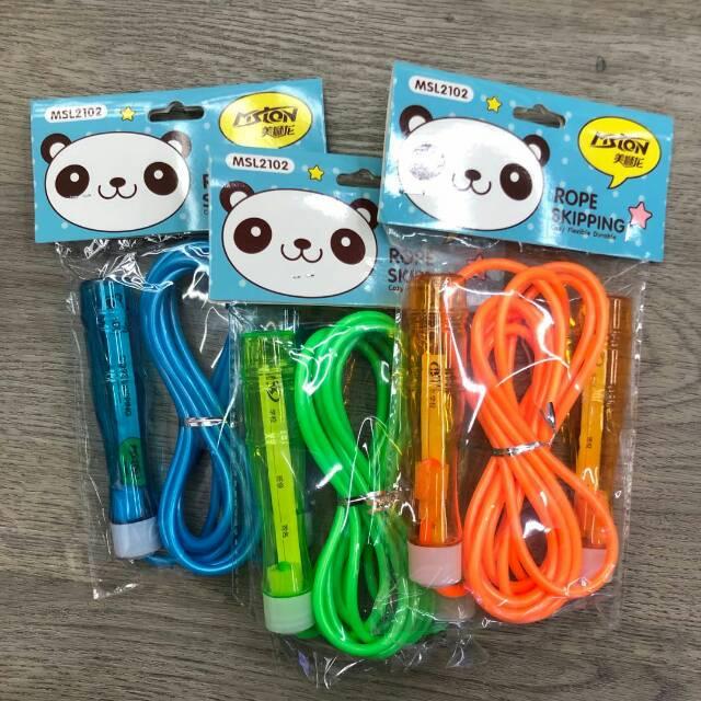 美狮龙MSL-2102儿童跳绳PVC材质超级耐磨吊卡袋装