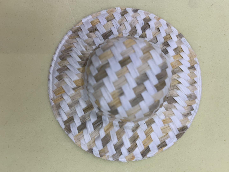 斜纹6.5厘米草编帽发饰服饰搭配工艺装饰配件