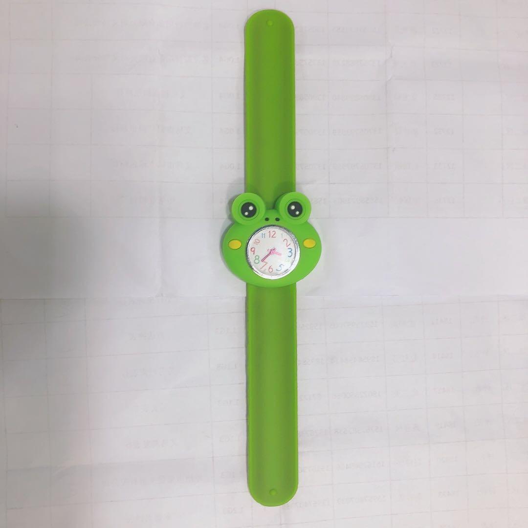 青蛙手表儿童男童指针式防水防摔卡通幼儿小学生女孩子电子表