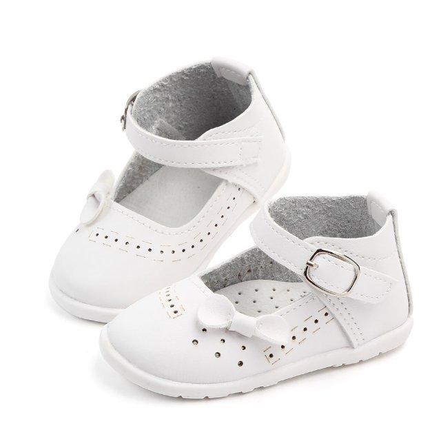 宝宝学步鞋女童新款婴儿带扣小皮鞋浅口防滑软底单鞋潮鞋