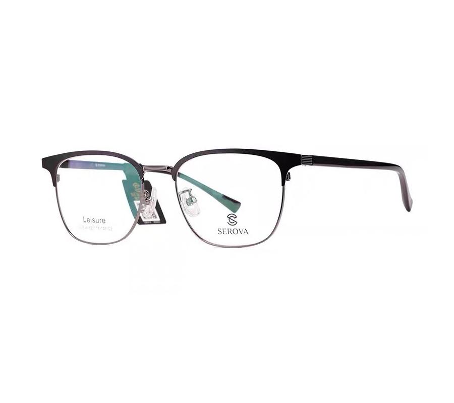 施洛华正品新款眼镜架复古防蓝光近视镜男士时尚方框黑款粗镜腿SL526