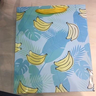 香蕉热带树叶图案纸质礼品袋