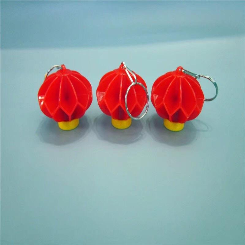 儿童创意玩具塑料红灯笼钥匙扣小电灯装饰照明