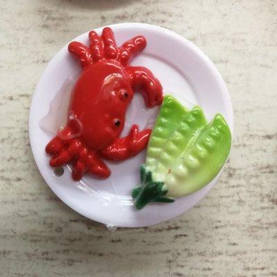 仿真菜肴红烧螃蟹3d立体冰箱贴磁铁