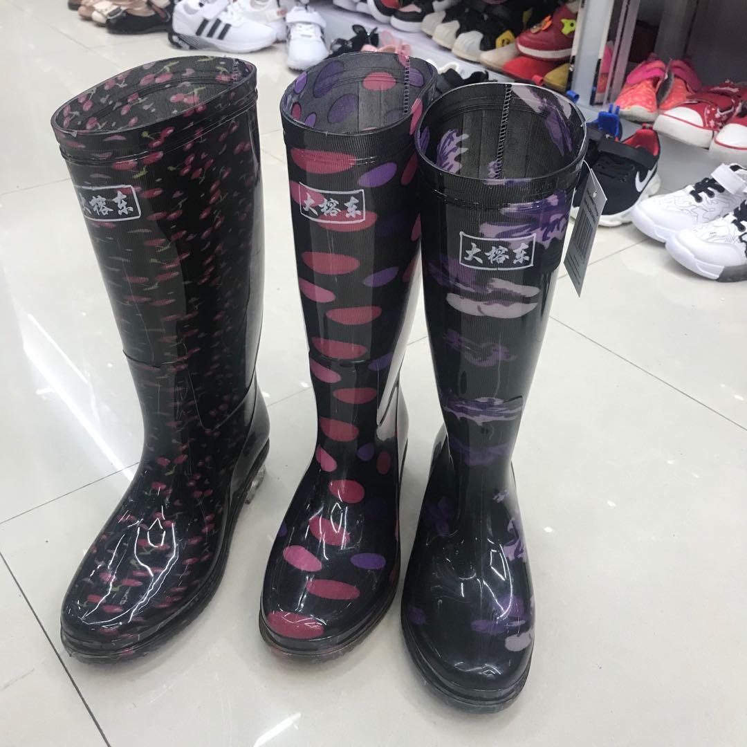 2020中筒雨鞋男女士短筒雨靴水靴高筒男低帮水鞋防水胶套鞋防滑牛筋底