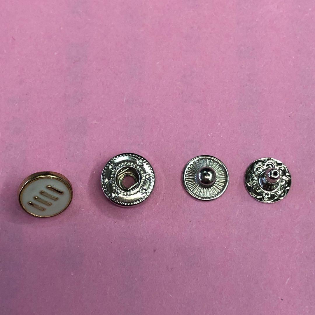 金属钮扣锌合金 铜四合扣按扣隐形子母扣羽绒服外套大衣纽扣扣子