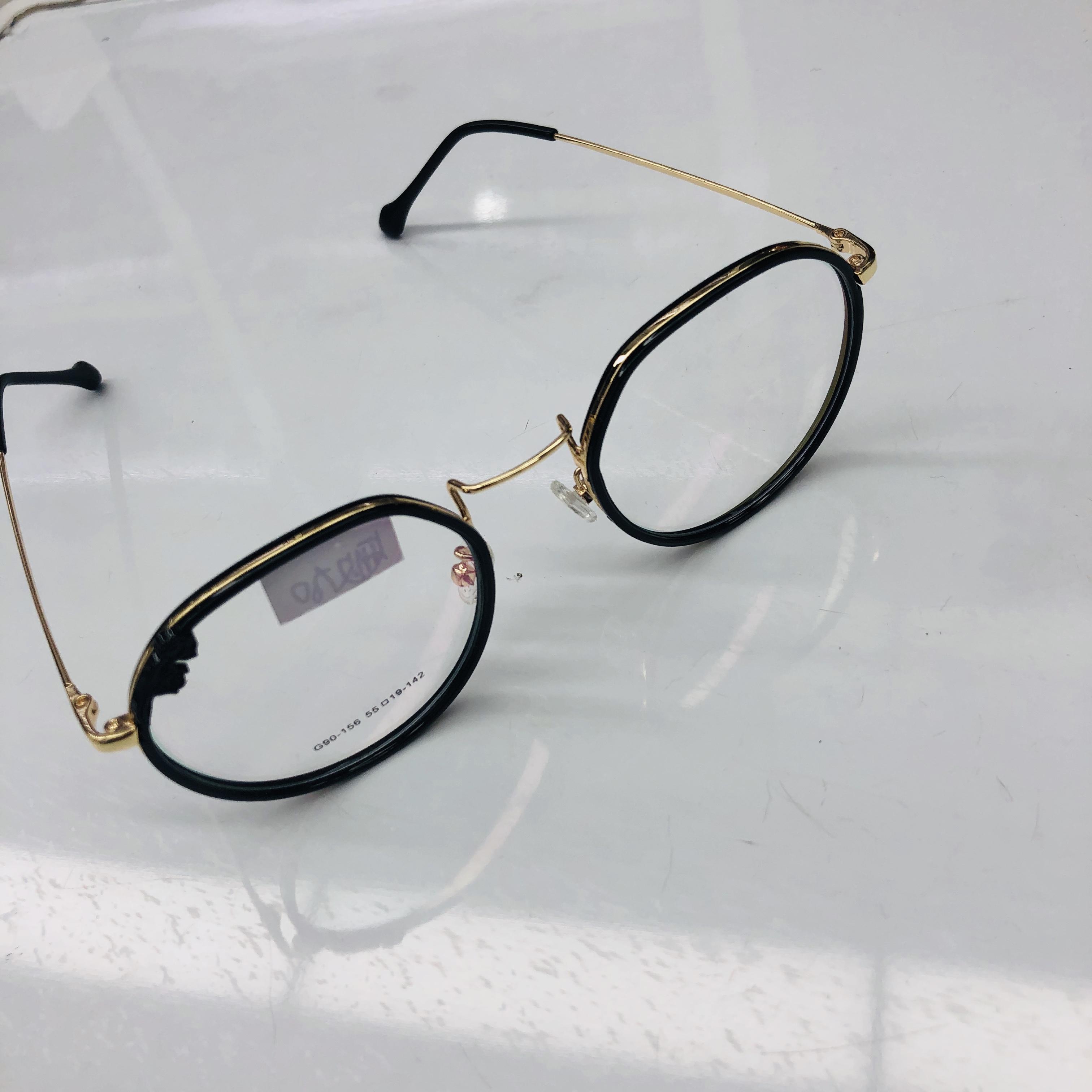 透明近视眼镜框架女可配有度数素颜网红款街拍平光眼睛韩版潮男