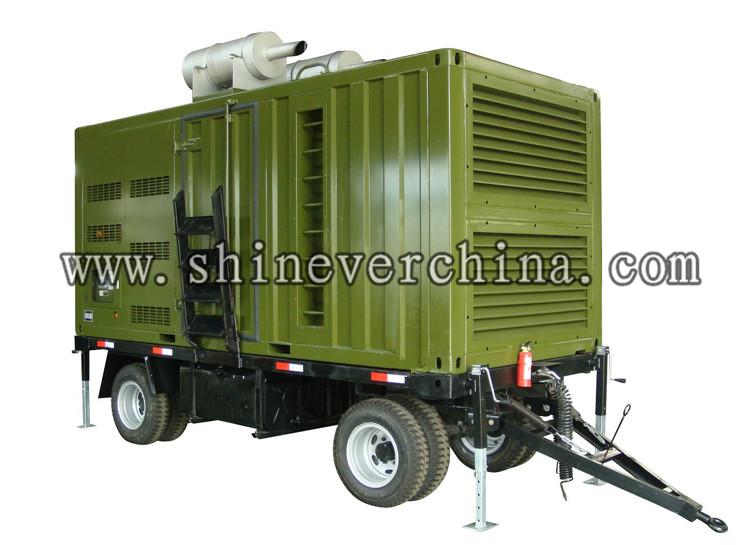 全自动柴油发电机组,拖车静音款