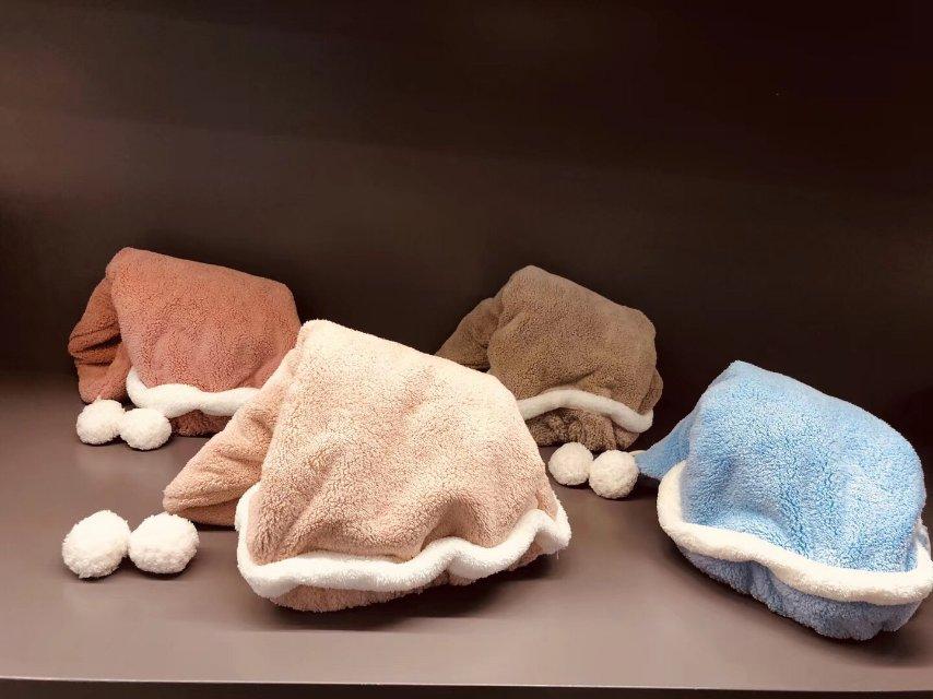 圣诞干发帽速干毛巾洗头擦头发韩国成人吸水干发巾圣诞干发帽