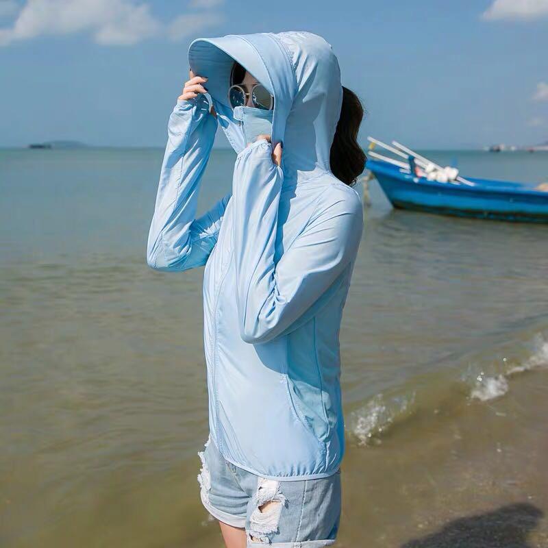 防晒衣女短款2020夏季新款防紫外线透气百搭薄款外套防晒服防晒衫