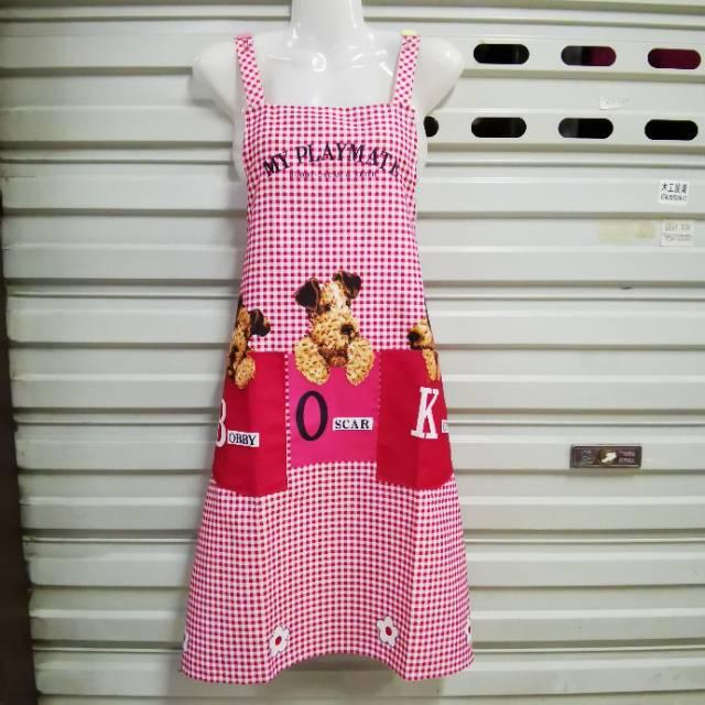 韩版围裙家用厨房时尚纯棉可爱成人罩衣女大人做饭围腰