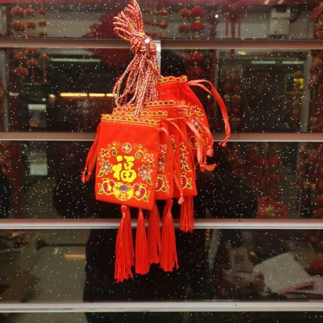 中国风挂件装饰节日喜庆福袋空袋挂流苏春节挂饰