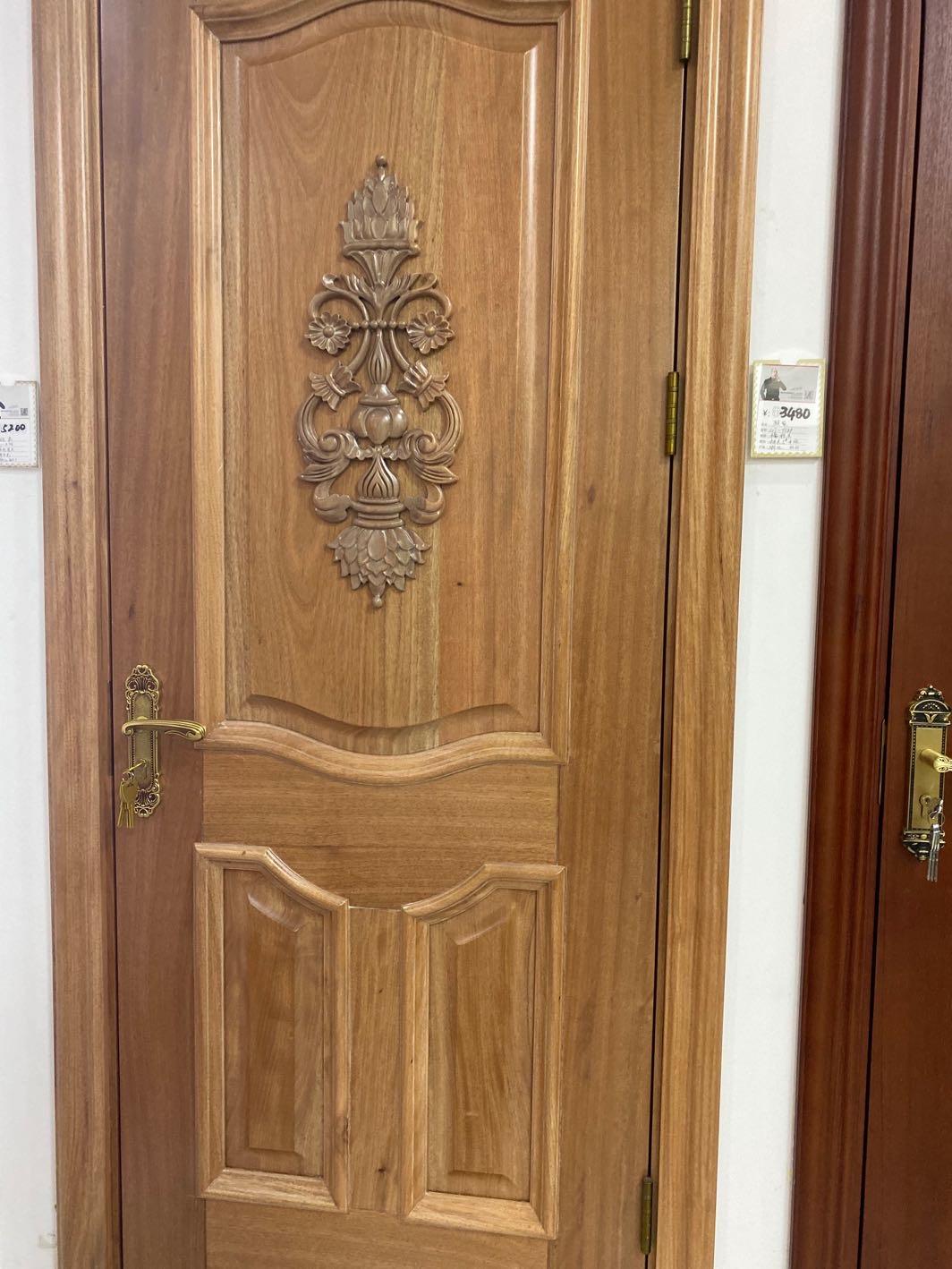 原木门纯实木门套装门卧室房间门现代简约定制烤漆木门室内门家用