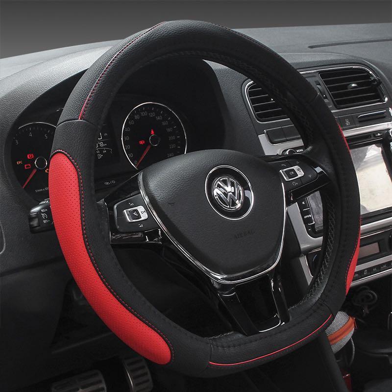 新款汽车平底方向盘套批发 四季通用 D型圆形汽车把套
