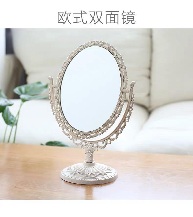 欧式双面镜台式镜子化妆镜梳妆镜桌面放大宿舍化妆台便携美容大号学生