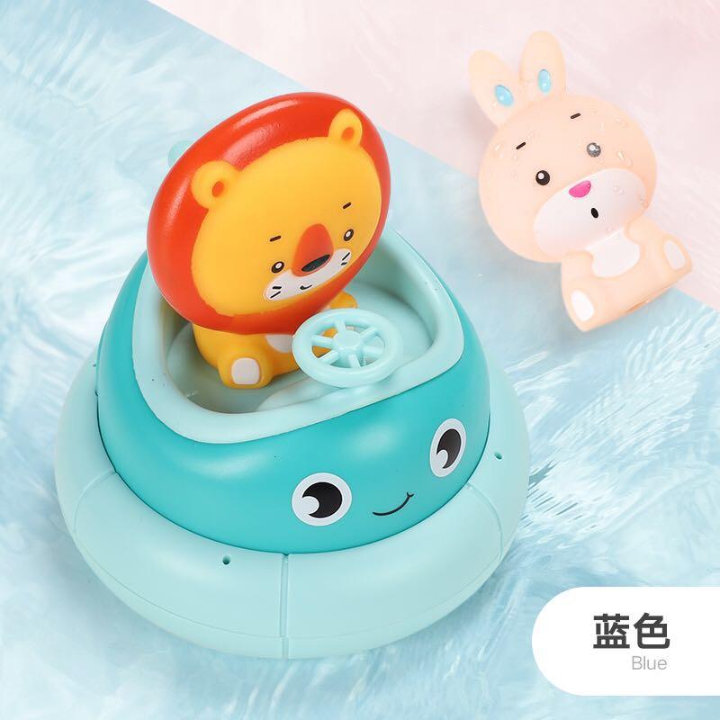 儿童洗澡玩具宝宝戏水花洒潜水艇游泳发条喷水男女孩浴室戏水玩具