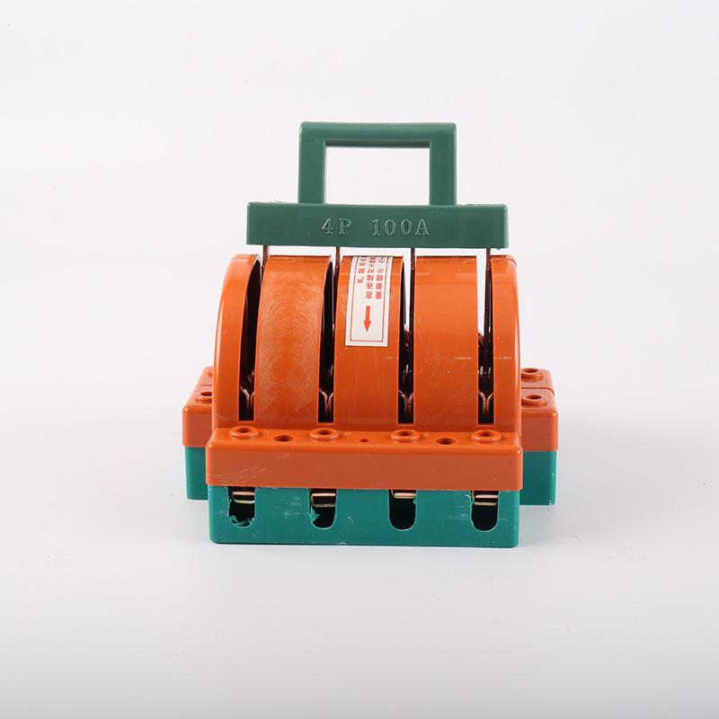 家用双投闸刀开关 4P100A 家用220v双电源切换开关倒顺电闸