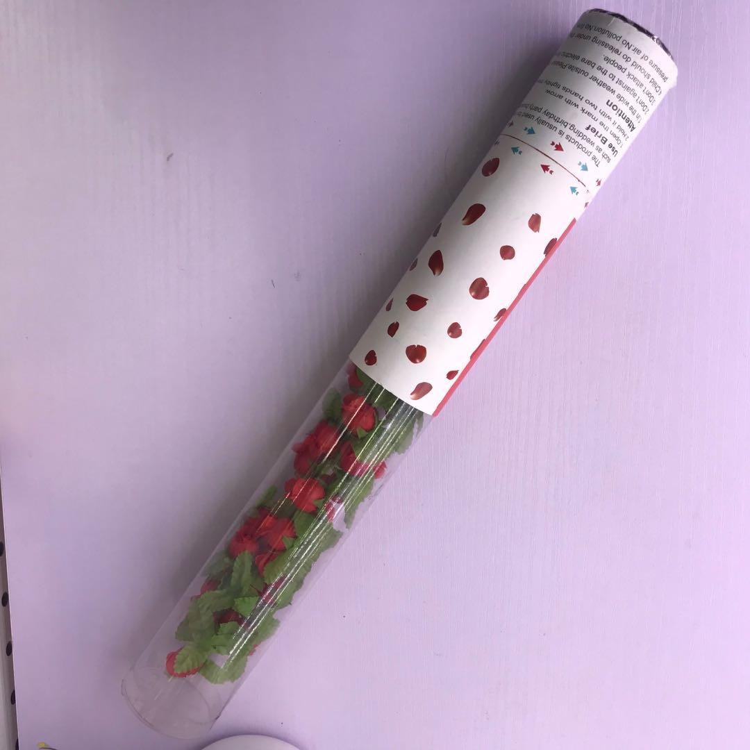 结婚用品大全婚礼礼花礼炮喷彩带烟花瓣礼花筒婚庆手持开业喷花筒40cm
