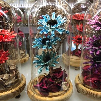 永生花花礼盒玻璃罩摆件七夕情人节女神节生日礼物送女友闺蜜