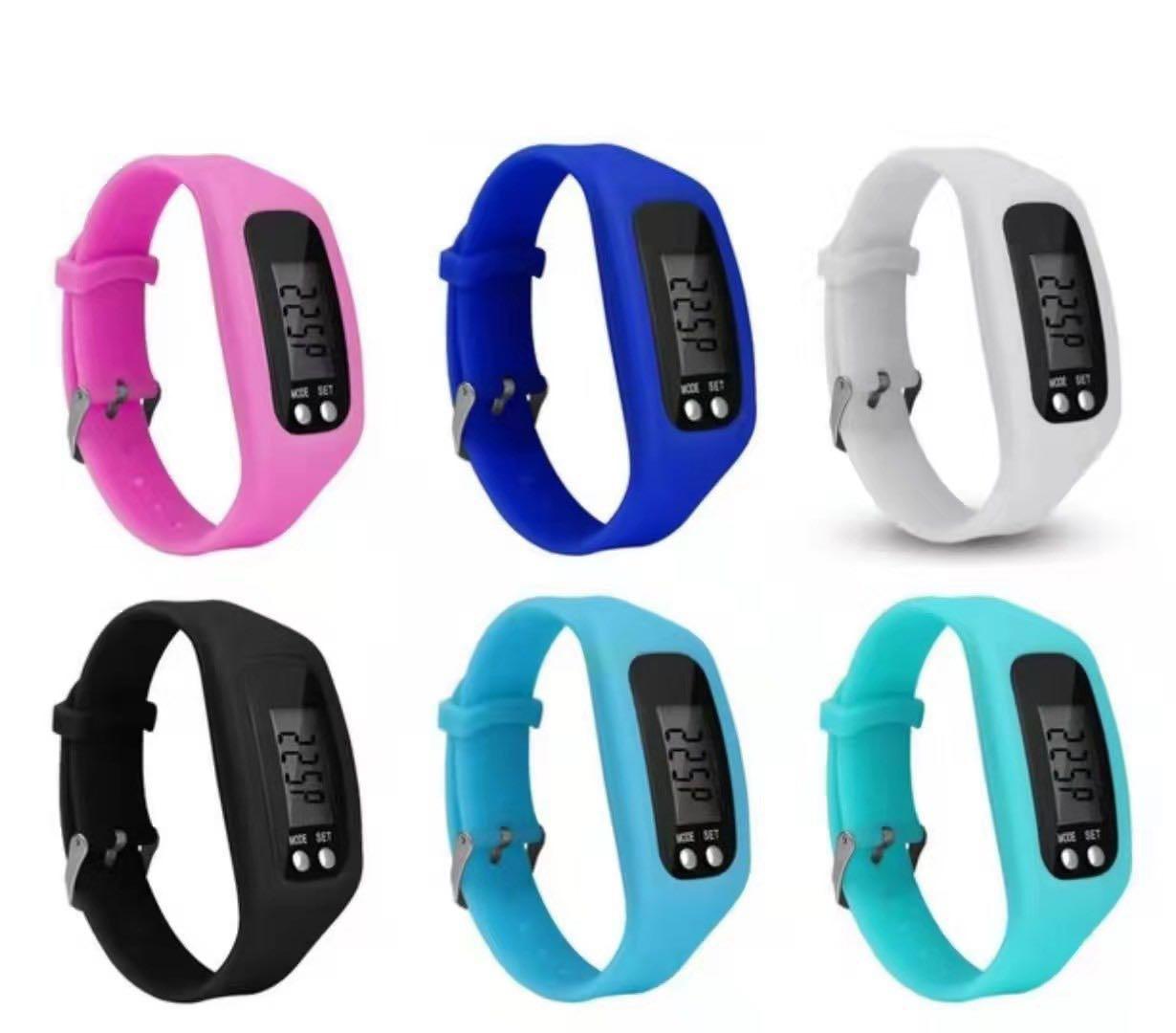 多功能硅胶运动计步防水电子手表