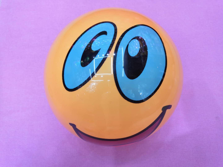 20公分笑脸球表情包球沙滩球PVC水上充气玩具厂家批发