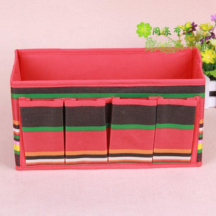 创意家居牛津布收纳四袋整理内衣袜子储物盒厂家直销杂物收纳盒