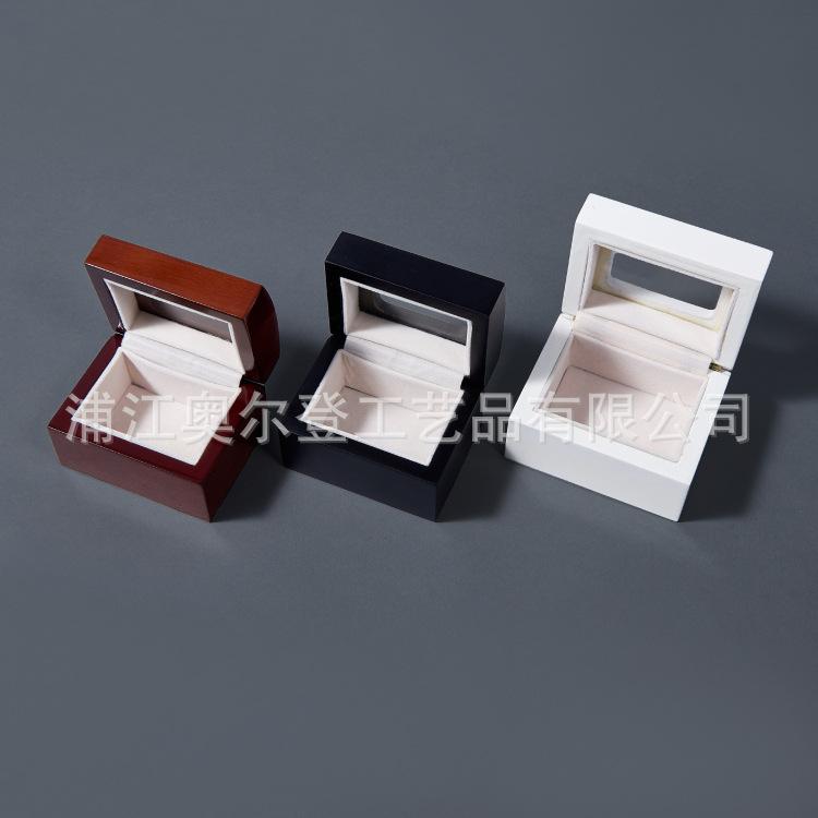定制迷你玻璃木盒首饰盒定做高档香水精油木盒方形翻盖饰品包装盒