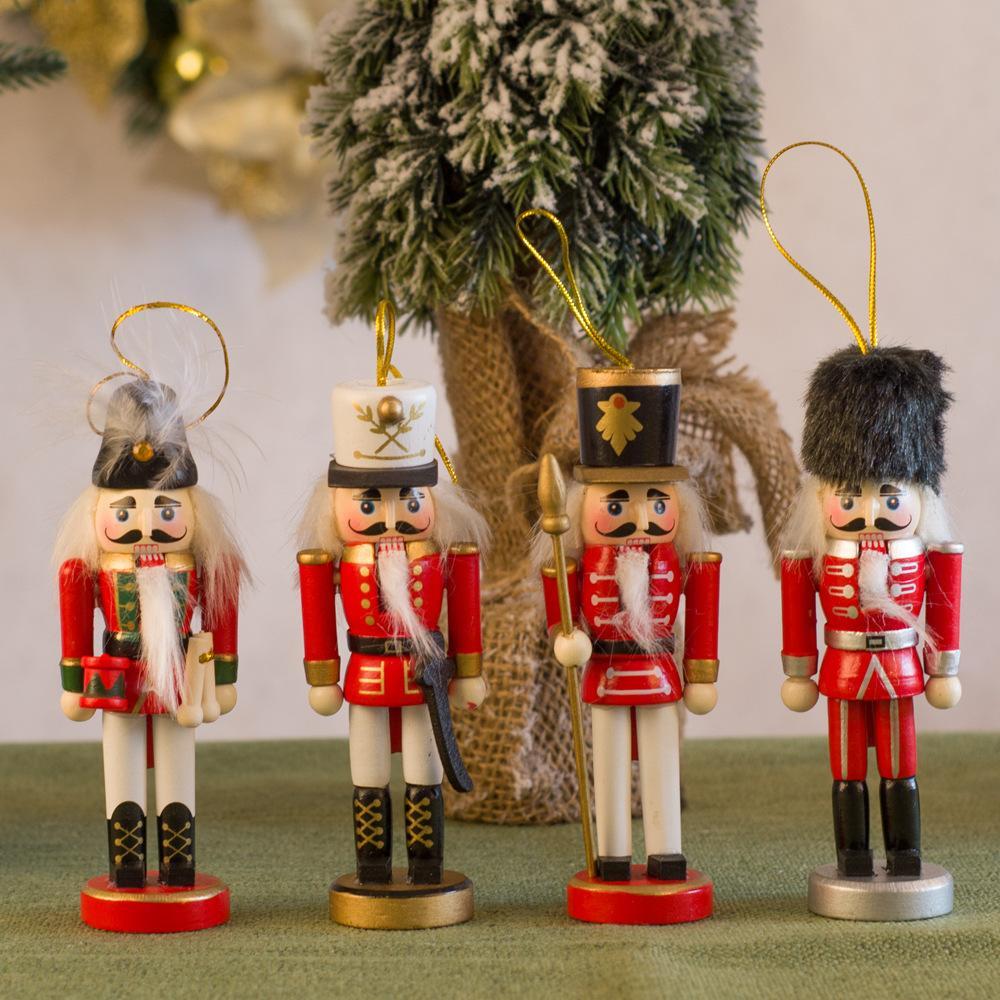 跨境现货13CM北欧士兵胡桃夹子批发创意家居摆件胡桃兵实木装饰品