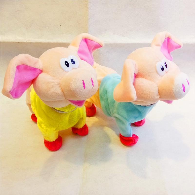 新款电动毛绒玩具走路猪义乌玩具儿童猪宝宝生日礼品唱歌电子狗