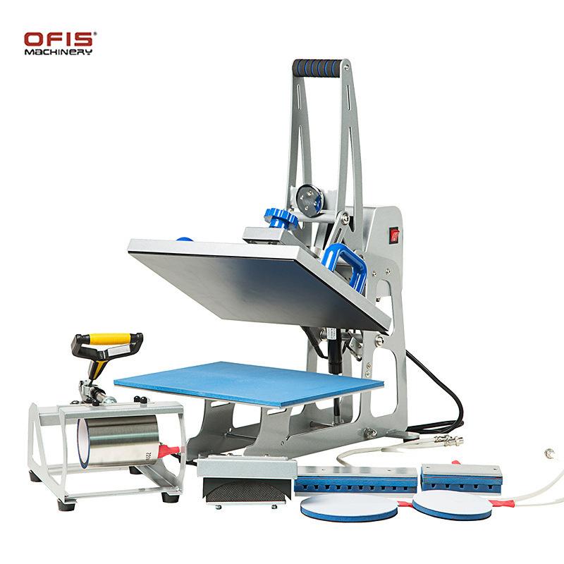 1808多功能磁性半自动烫画机 印花压烫机 29*38cm 九合一热转印机