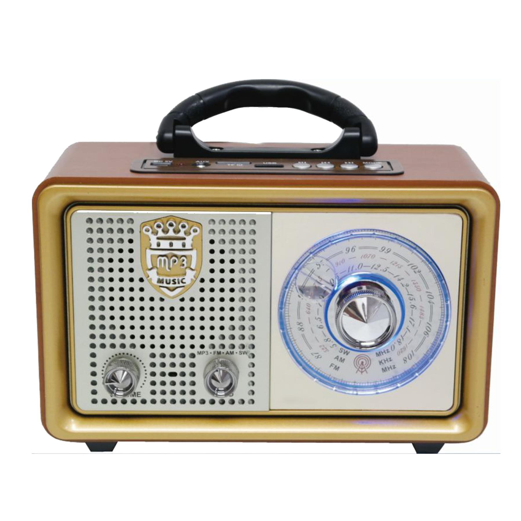 台式收音机跨境复古便携式蓝牙全波段插卡收音机外贸 CMiK 110BT