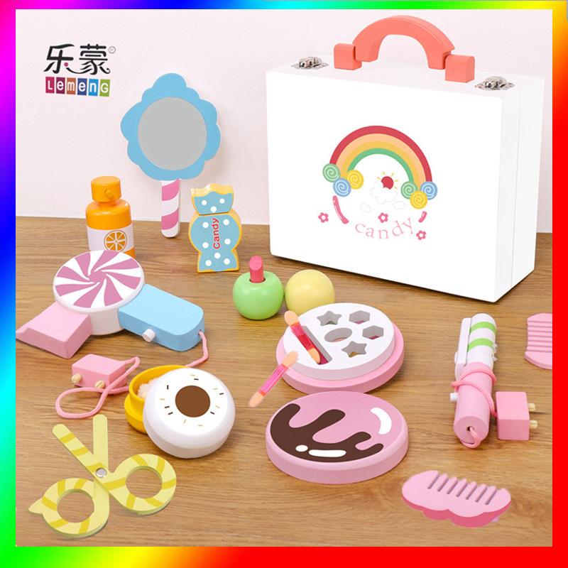 女孩过家家玩具儿童木质仿真糖果化妆盒饰品套装厨房生日礼物公主