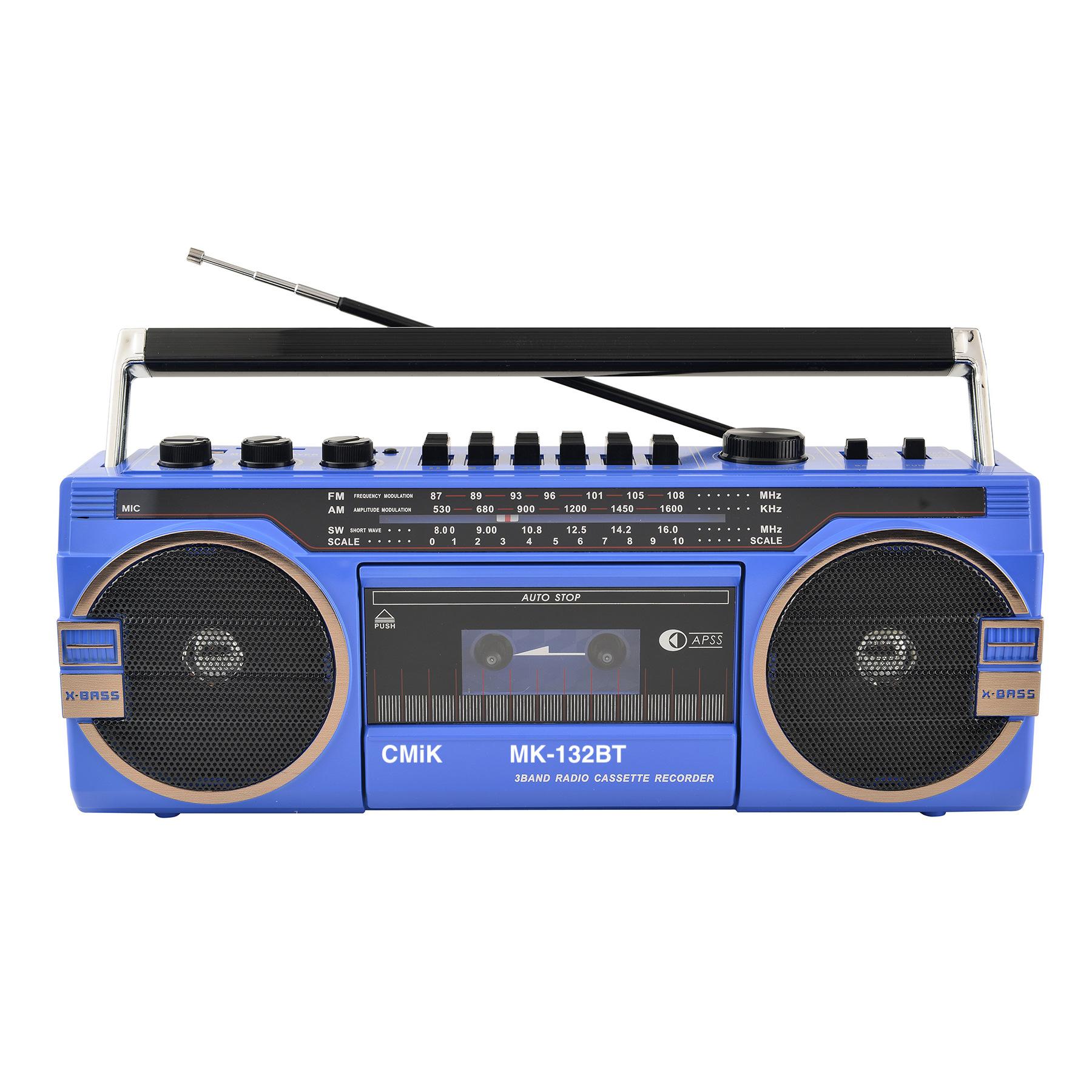 磁带机复古磁带收音机80年代便携式收音机卡带机录音机 132bt