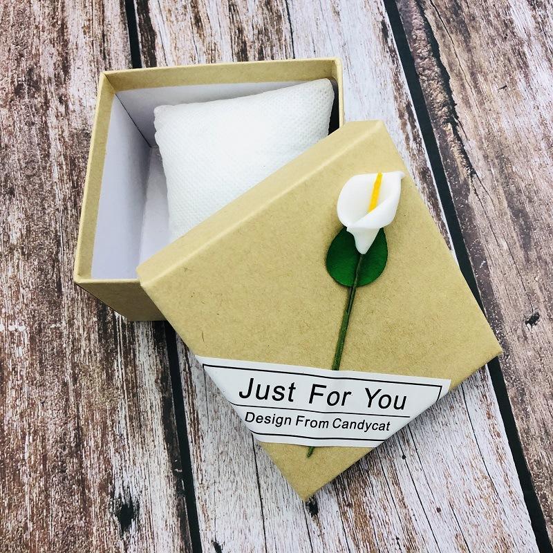 创意学生送礼装饰盒 创意牛皮纸天地盖饰品盒 一枝花手表盒批发
