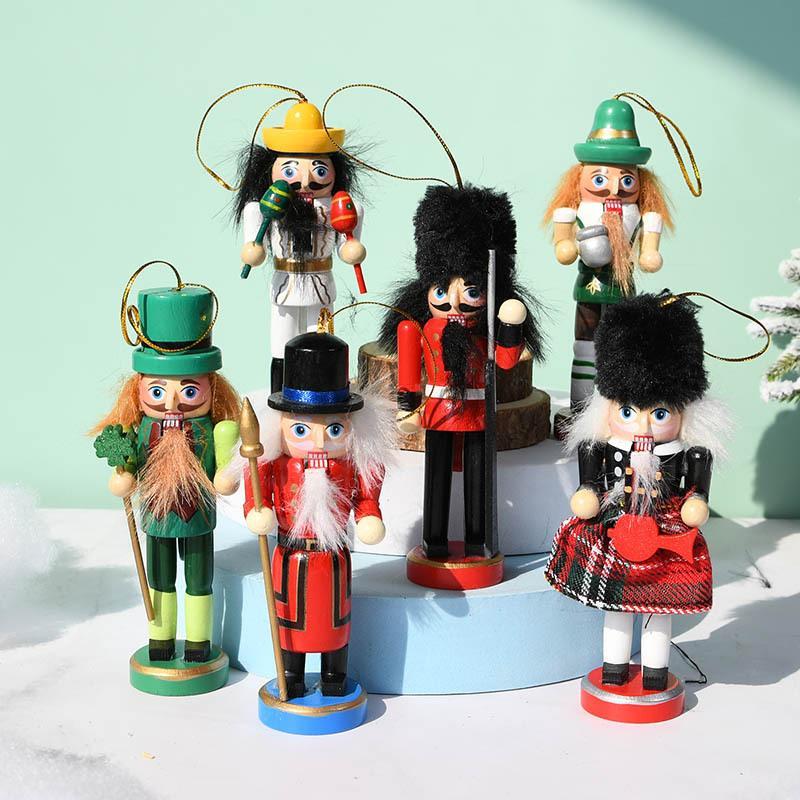 跨境13CM苏格兰风胡桃夹子木偶人国王士兵套装礼品定制工厂批发