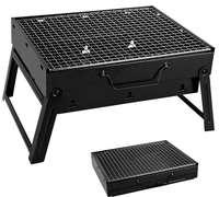 小黑钢烧烤炉35*27*20cm折叠便携户外室内小号木炭烧烤架