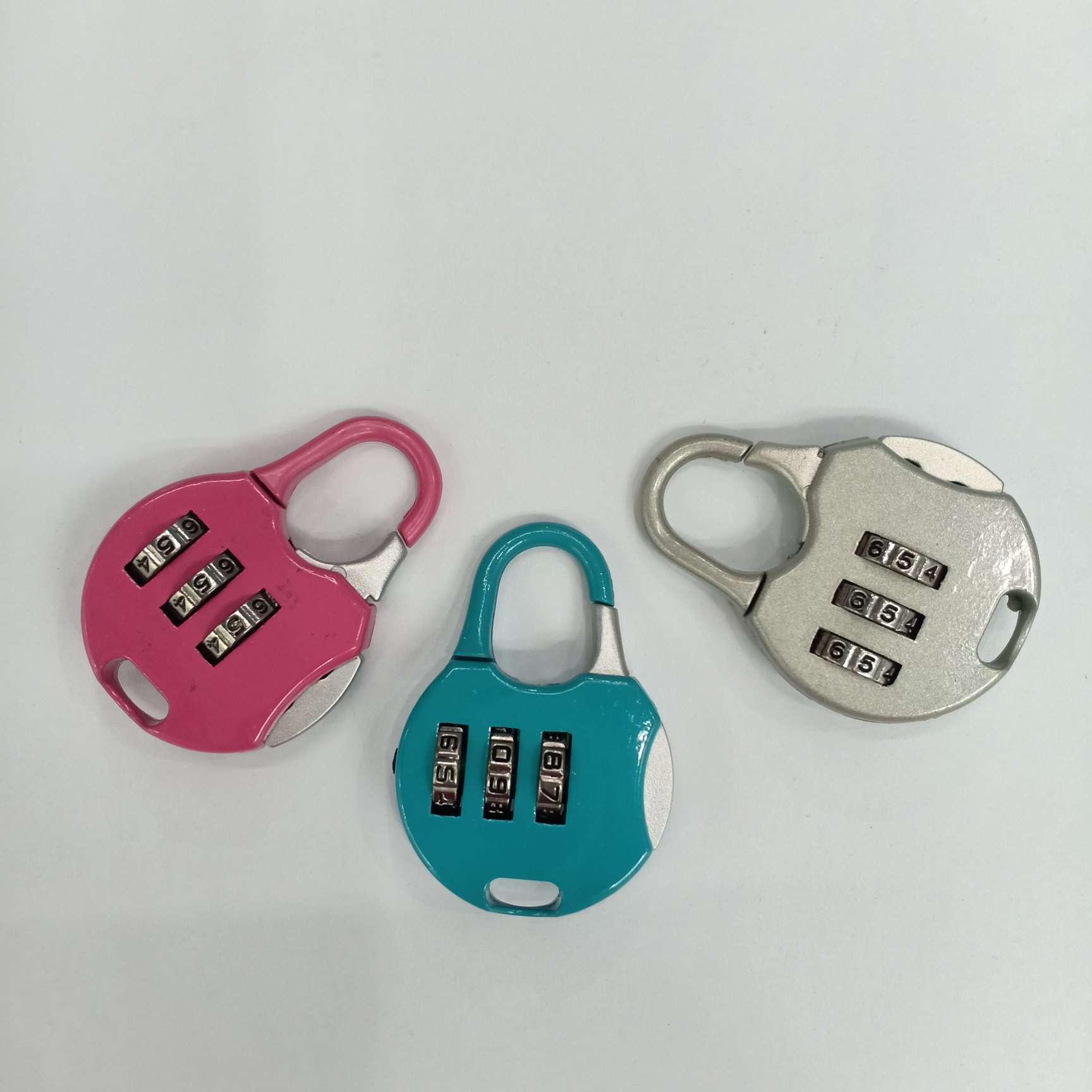 [方圆密码锁]彩盒密码锁箱包旅行箱密码挂锁学生小锁头