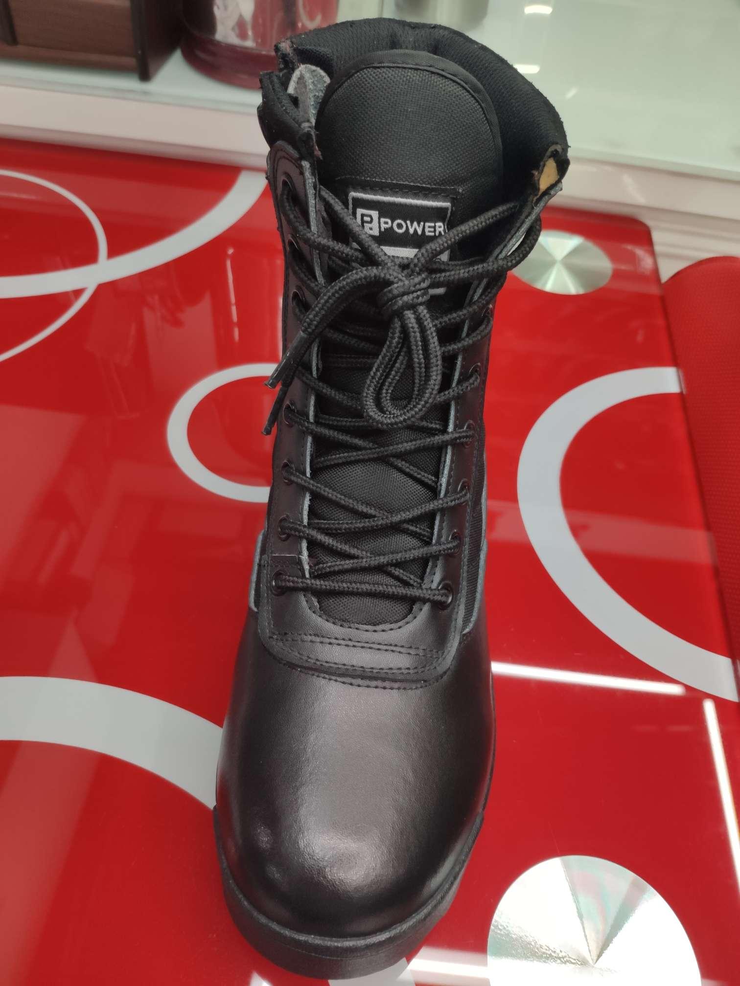 男士黑色高邦劳保鞋