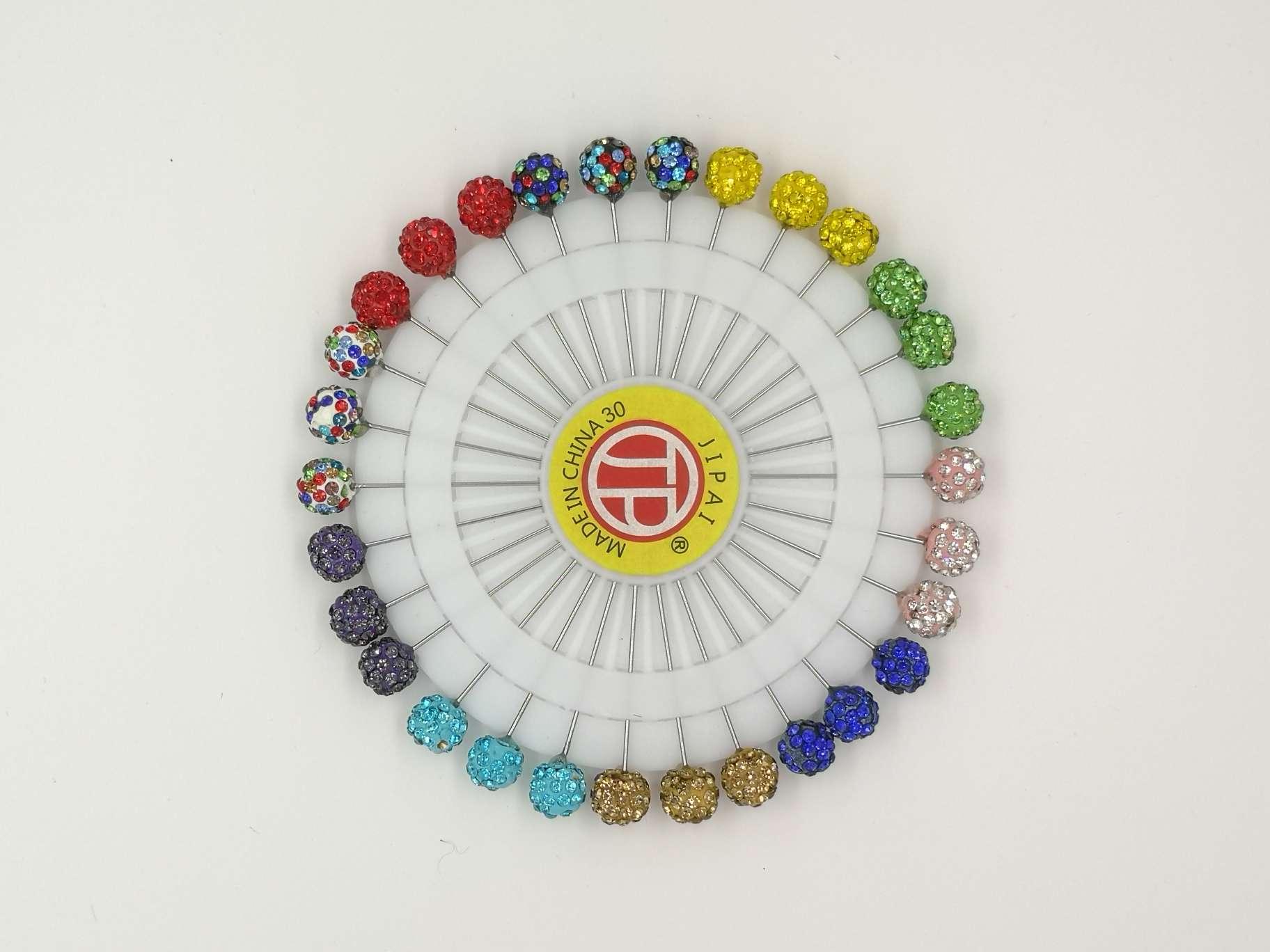 新款定位针珠光珍珠彩色防锈精品钻石服装固定针珍珠针插包工具