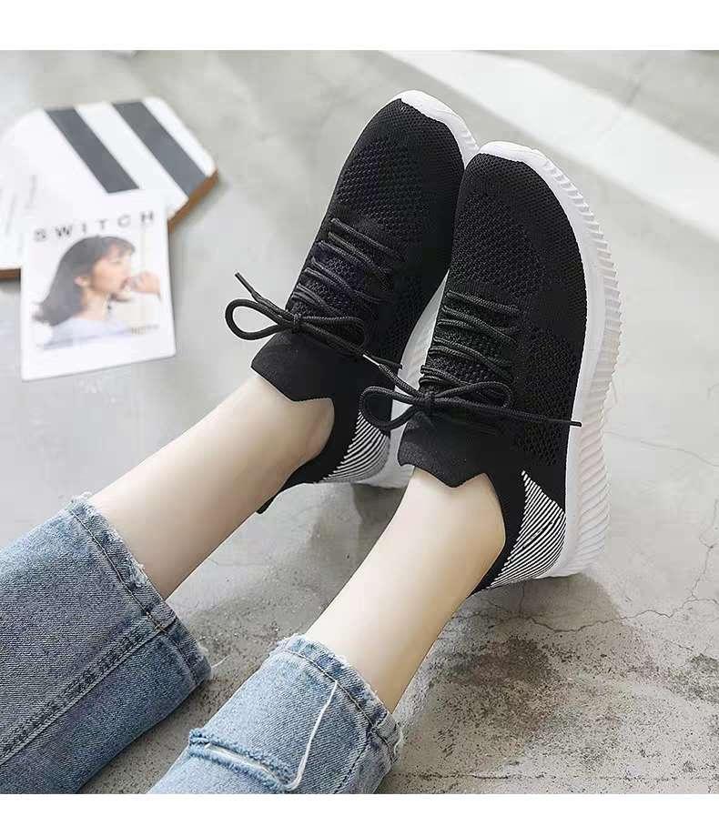 春秋季小白鞋女鞋子新款透气休闲运动网面百搭夏季薄款镂空白鞋