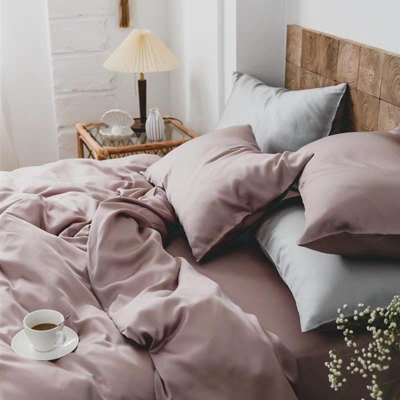 纯色60支天丝四件套双面丝滑被套 夏季冰丝床单床笠裸睡床上用品