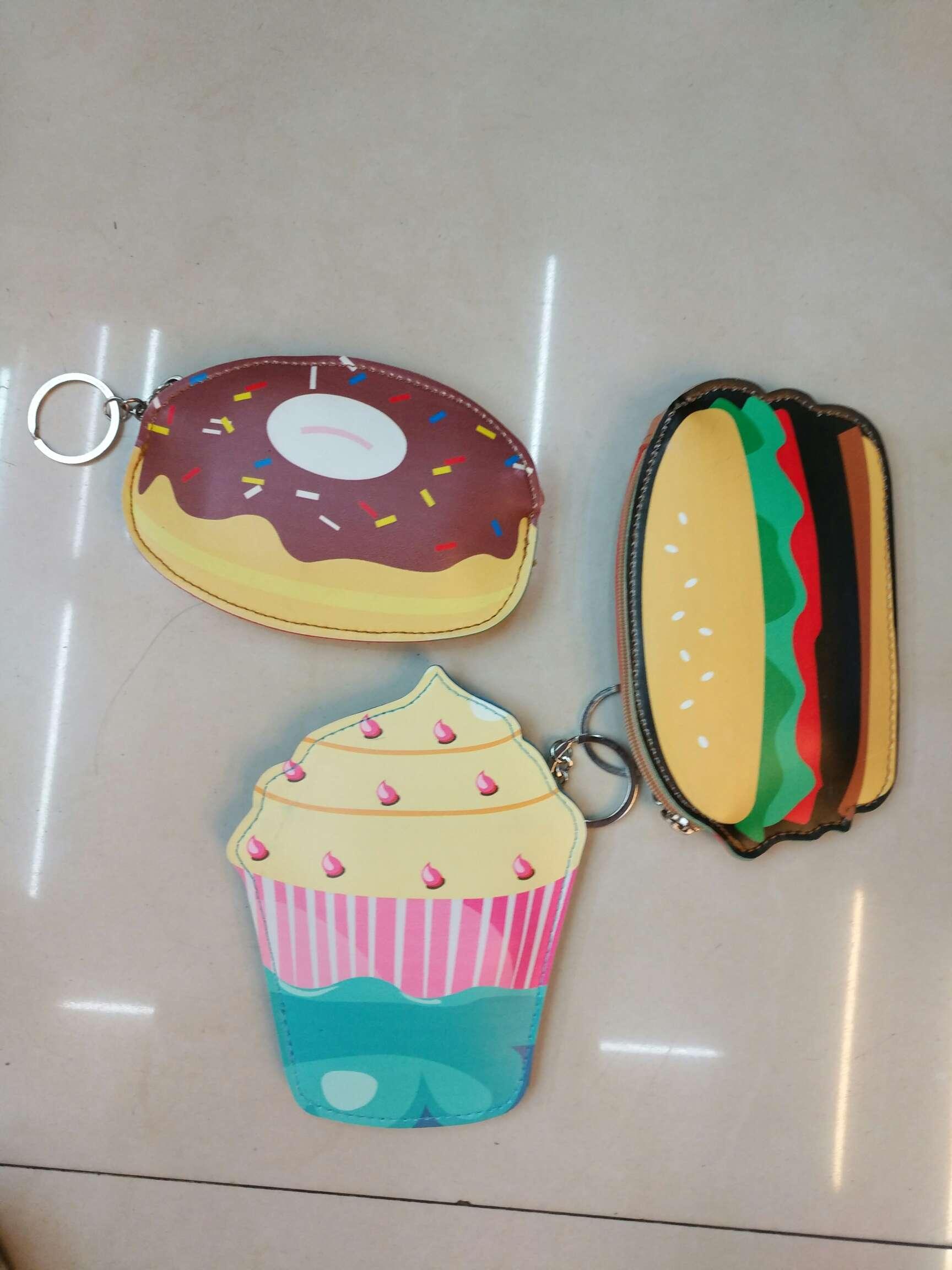 卡通水果电视机汉堡冰激凌照相机钥匙扣零钱包