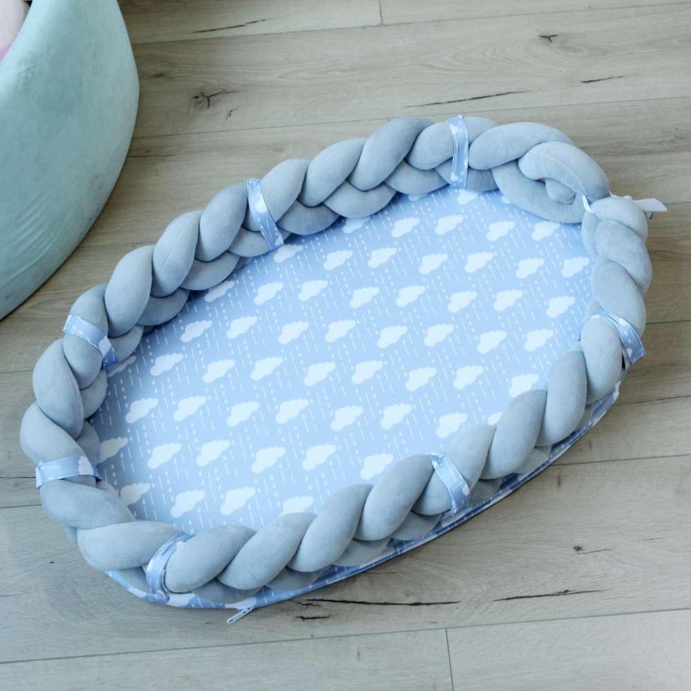 亚马逊热卖四股编织婴儿折叠床可拆卸便携式仿生婴儿床中床手工编织绳丹麦ⅰNS打结抱枕中国结