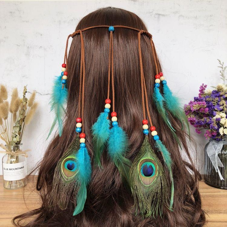羽毛饰品,羽毛发带,羽毛耳环,民族风