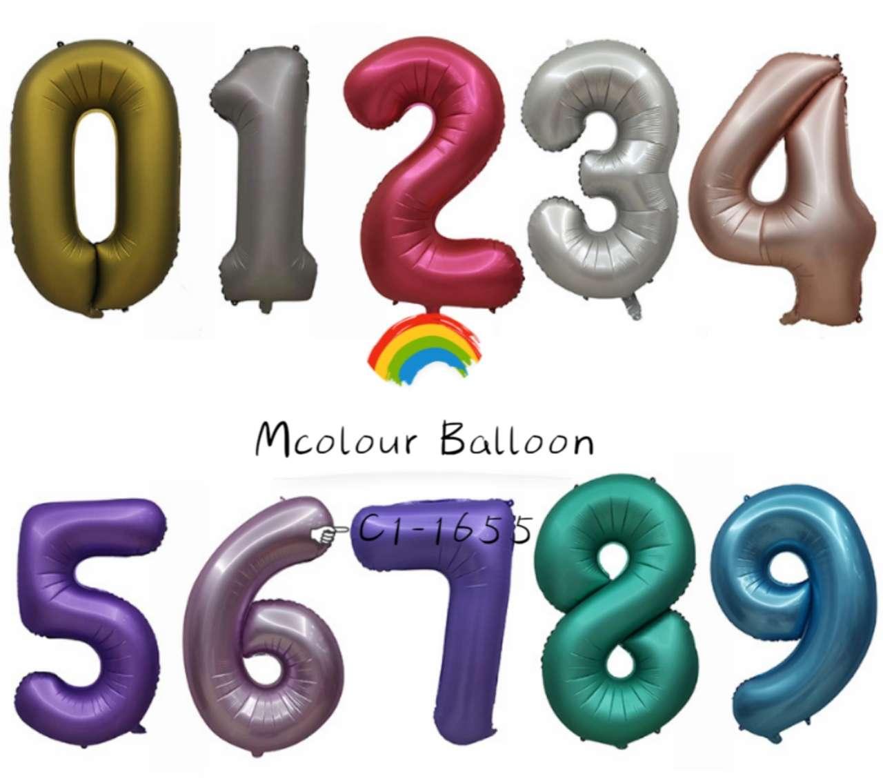 32寸中号金属色亚光数字铝膜气球派对装饰生日用品