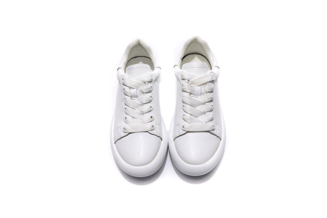 网红休闲运动鞋真皮小白鞋老爹潮鞋,35--40   白色