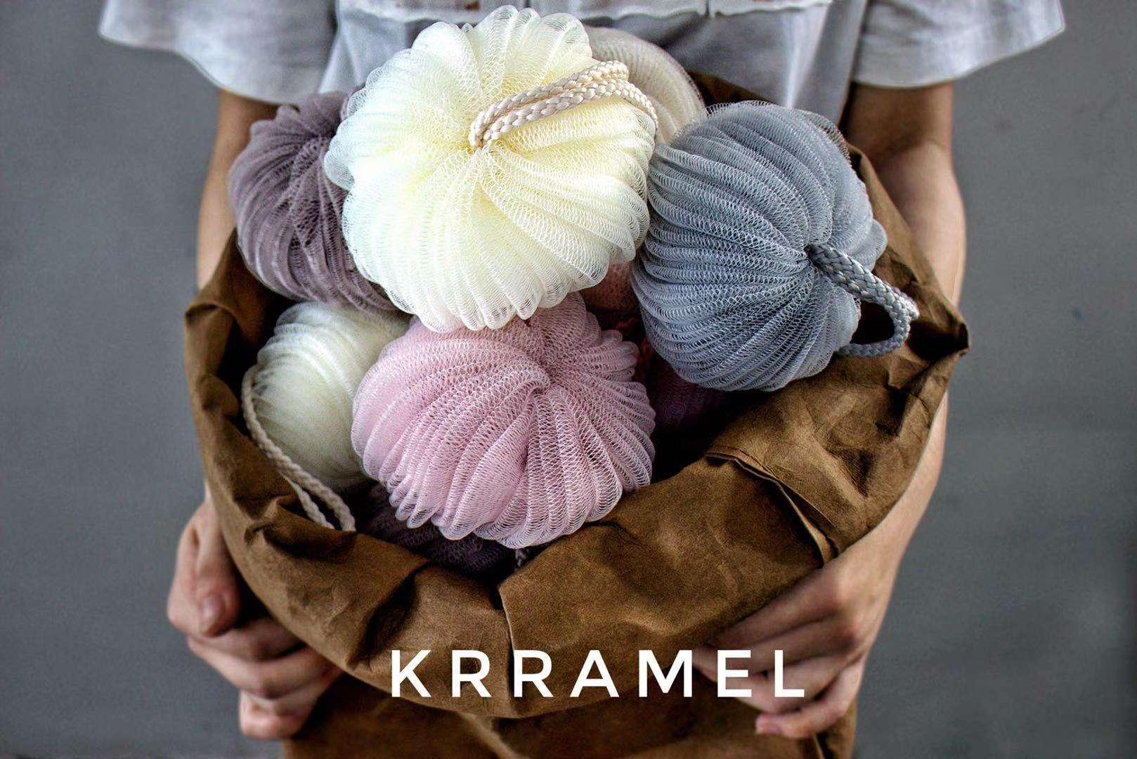 krramel沐浴泡泡清洁南瓜球 可爱便捷造型