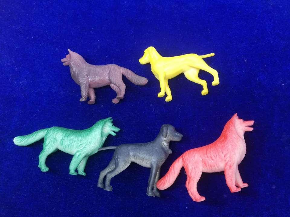 亚马逊新款模型玩具狗儿童卡通仿真动物整人玩具桌子摆件模型狗