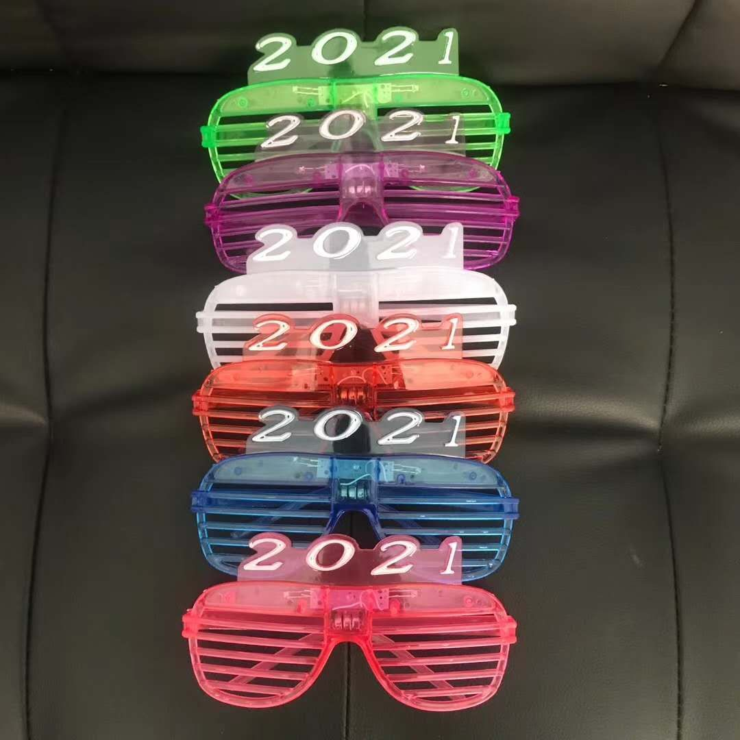 2021百叶窗眼镜2021带灯眼镜带灯儿童眼镜舞会演唱会装饰儿童眼镜工厂直销批发零售