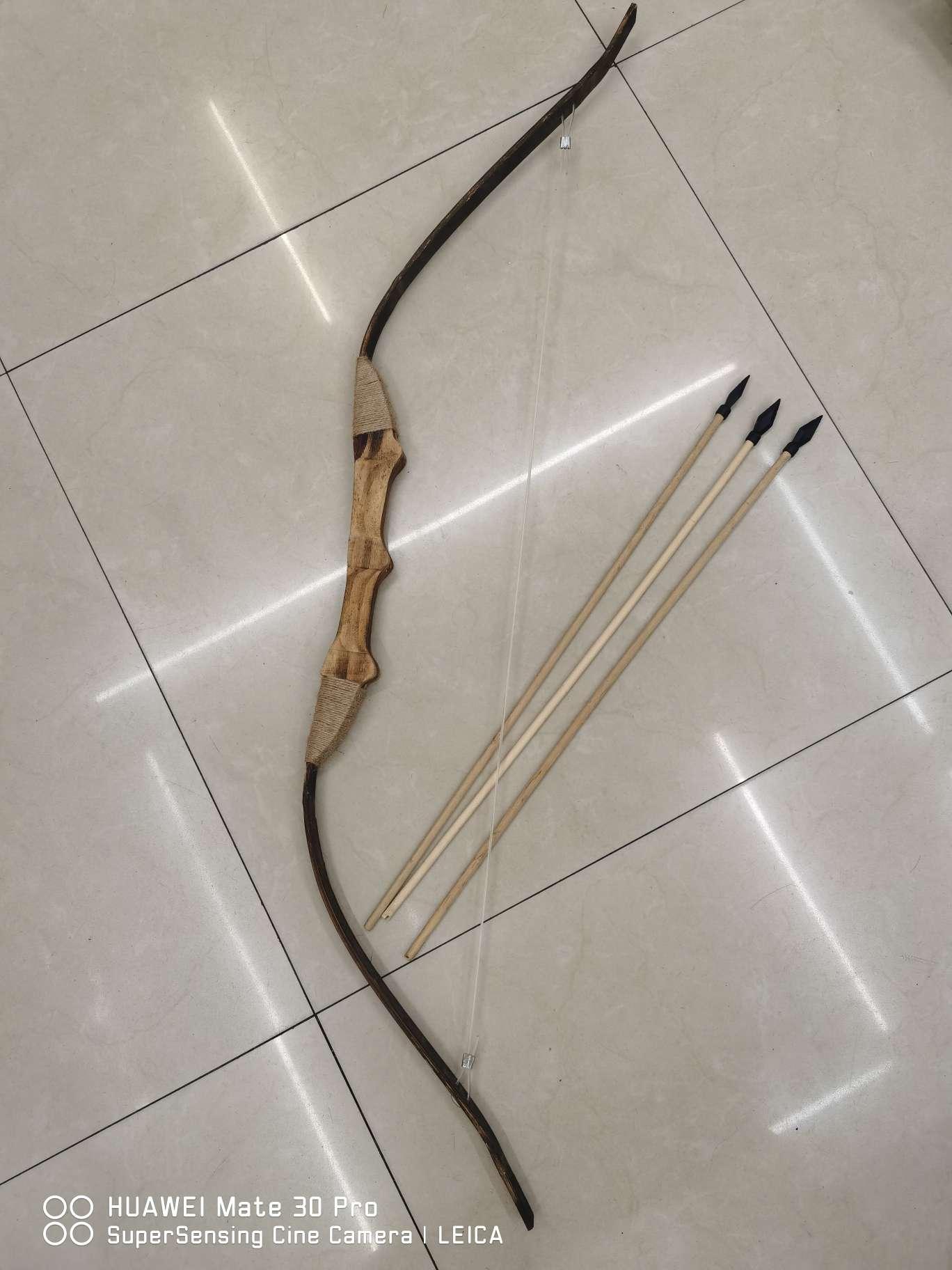 一米大弓配三支箭